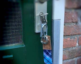 Leather key chain with karbijnhaak/multiple key rings/jeans