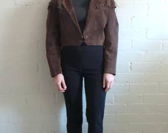Brown Suede Cowboy Jacket