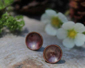 Patina Copper Stud Earrings, Copper Disc Earrings, Stud Earrings, Copper Earrings, Patina Earrings, Copper Stud Earrings, Rustic Earrings