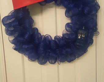 Dr. who, Dr. Who wreath, phone booth, fezz,