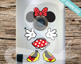 Disney Cruise Door Minnie Mouse Body Magnet - DIY Printable - Perfect for Disney Cruise Stateroom Door. Instant Download.