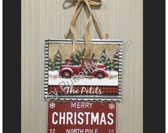 Christmas Holiday Truck Decor Personalized