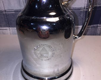 Vintage Wear-Brite Intercontinental New York hotel logo nickel silver teapot