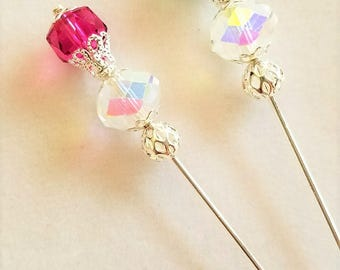 Swarovski Crystal Stick Pins