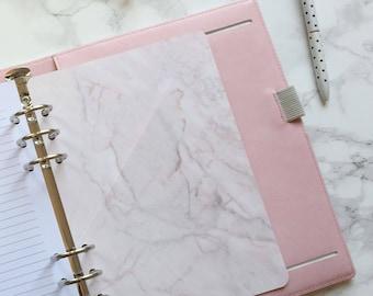 Pink Marble effect Pocket Folder | Planner Pocket | Pocket Divider | Pocket Dashboard - A5