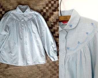 1970s Indian cotton tunic /  Trivandrum tunic / peasant top / bohemian / hippie