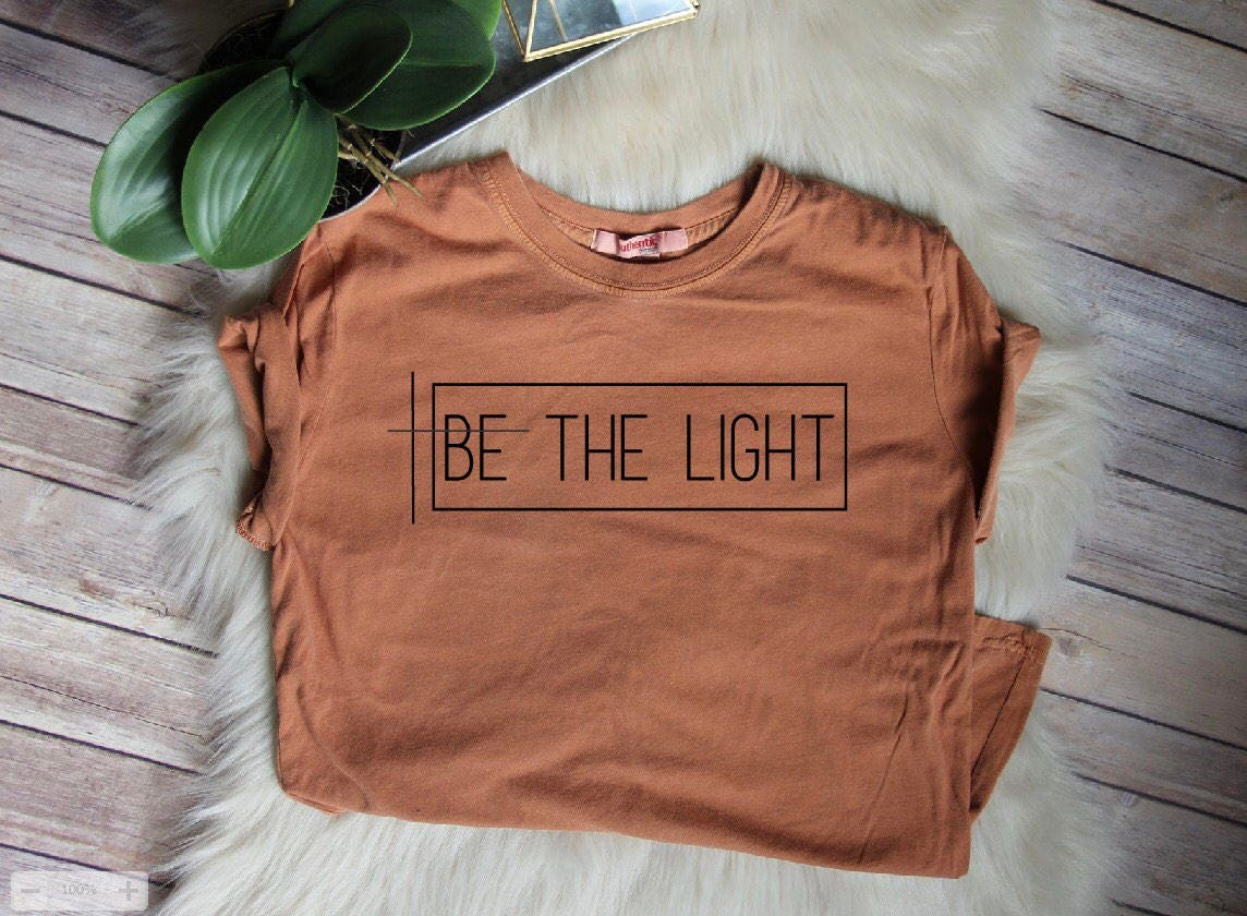 On sale be the light women 39 s christian graphic tee for T shirt graphics for sale