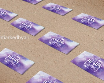 Purple Watercolor Small Rectangle Stickers
