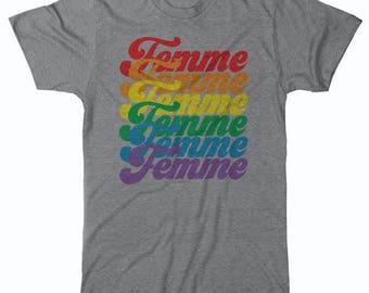 FEMME Shirt Lesbian Shirt Feminist shirt LGBT shirt Queer shirt  Pride shirt Lesbian Girlfriend Lesbian Gift Gay Shirt Lipstick Shirt