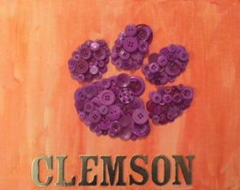 Clemson Button art