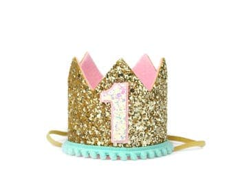 Pet Birthday Crown || Dog Crown|| Pet Pig Cat Kitty Puppy People Birthday Hat || Pet Photo Prop || Dog Gift || Add Any Number