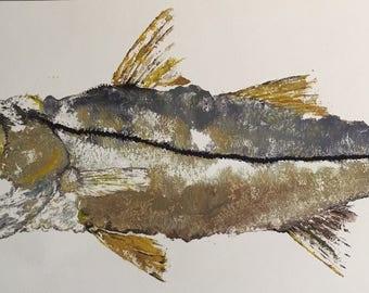 Gyotaku Snook Painting