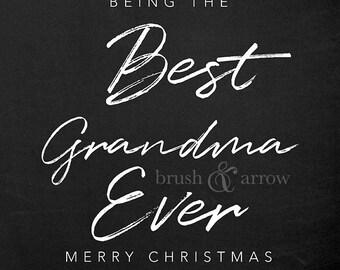 Best {Grandma - Grandpa - Aunt - Uncle - Cousin} Ever, printable chalkboard style art, instant digital download
