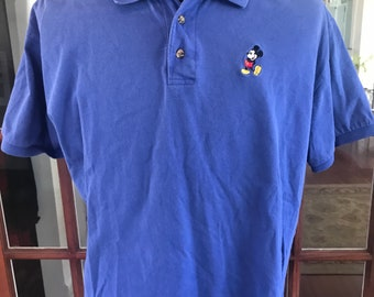 Vintage 1990's Walt Disney World Mickey Mouse Polo Shirt