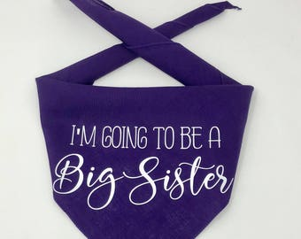 Dog Pregnancy Announcement Bandana, I'm Going To Be A Big Sister, Big Brother in Training Pregnancy Announcement, Custom Pregnancy Announce
