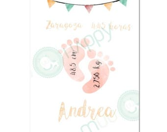 Custom Birth Announcement | Baby Birth Printable | Birth Printable | Baby Birth Print | Nursery Art Printable | Nursery Wall Art | Baby Gift