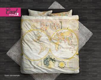 World map bedding etsy gumiabroncs Images