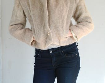 Cropped bomber jacket, mohair, doncoster, 80s, vintage, 4, small