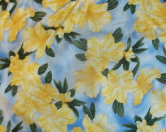 Yellow Hibiscus Print Fabric