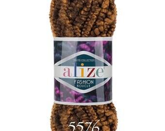 ALIZE FASHION BOUCLE chunky yarn multicolor yarn hand knit yarn color choice wool blend yarn boucle yarn melange yarn creative yarn