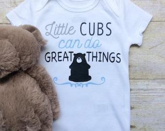 Baby Boy Onesie, Baby Boy Clothes, Little Cubs Onesie, Baby Boy Bodysuit, Little Bear Onesie, Baby Clothes