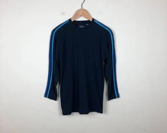 90s Tom Boy Shirt Size Medium, Navy Long Sleeve Top, Skate Top