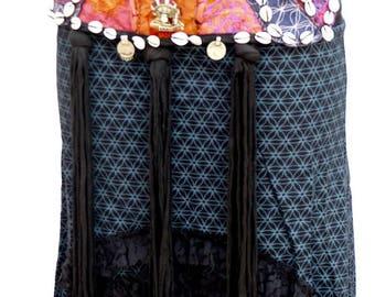 Bellydance Belt purple ,pink and orange color/Tribal fusion/Tribal dance adornement/Ceinture DanseTribale