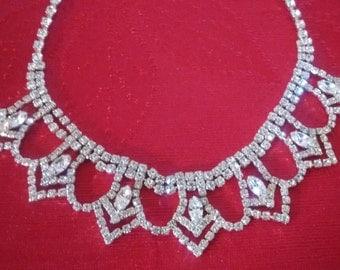 "Rhinestone Necklace: I title it- ""Upside Down Crown"""