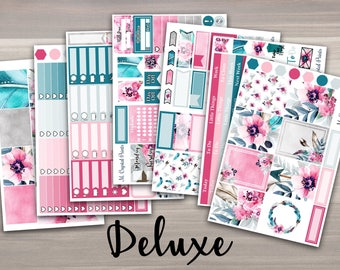 DELUXE Feathers & Flowers Vertical Planner Kit || 7 Pages