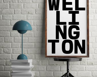 Wellington, Wall Art Print, New Zealand Gift, Wellington Decor, New Zealand Art, New Zealand Print, Wellingtons, Wellington Gift, Artwork