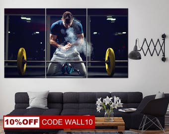 Motivational Wall Art, Printing in gym, Lifting barbells, Lifting barbells art, Heavy sports, Motivation canvas, Gym Canvas, Gym wall art