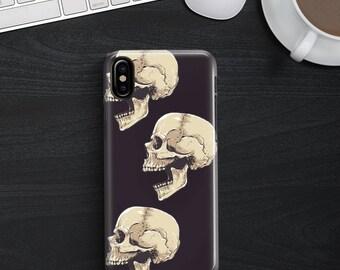 Black Three Skulls Phone case iPhone 8 Case iPhone 8 PLUS Case iPhone X Case iPhone 10 Case iPhone 7 Case iPhone 7 plus Case Gift