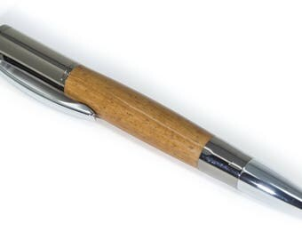 The Hana Pen - Cinnamon Wood on Gunmetal & Chrome - Free Shipping - Handmade In Hawaii