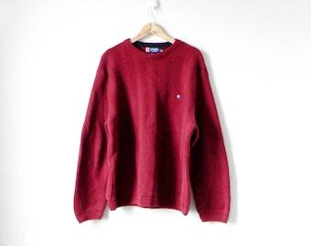 90s Zig Zag Textured Sweater - 90s Hip Hop Clothing - Cosby Sweater - 90s Sweater - Grandpa Sweater - 90s Clothing - Men's XL