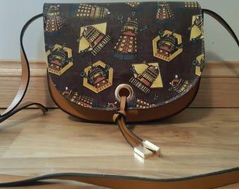 BBC - Doctor Who - Daleks - exterminate handbag - brown/tan - custom made