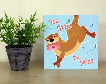 You Otter Be Mine Greetings Card