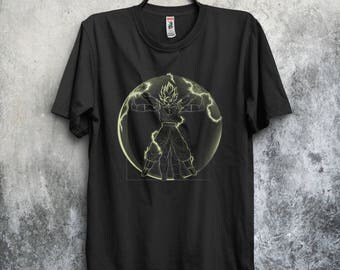 Vitruvian Saiyan T-Shirt / Goku, Vegeta & Trunks / 4 Shirts  (See Item Details) /  Vitruvian Man /  FREE SHIPPING WORLDWIDE