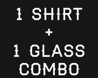 1 shirt + 1 glass CatsOnTap #beercat combo