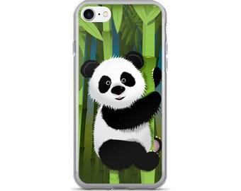 Panda iPhone Case, Panda Bear iPhone Case, Panda Phone Case, Protective iPhone Case, iPhone 7 Case, iPhone 6 Case, iPhone 5 Case, Panda Love