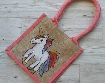 Unicorn jute bag