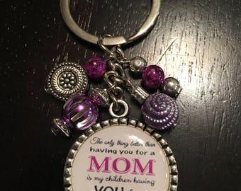 Mom Grandma Keychain