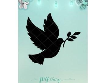 Bird of Peace / Bird Svg / Svg / Peace Svg / Mason Jar / Night Light / Bird Dxf / Peace Dxf / Bird Png / Peace Png