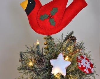 Cardinal Christmas Tree Topper