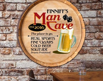 Custom Beer Barrel Sign, Gifts for Beer Lovers, Gifts for Him, Gifts for Dad, Gifts for Boyfriend, Gifts for Brother, Mancave Sign