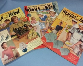 Vintage Woman and Home Magazines (August (SOLD), September, April 1942)