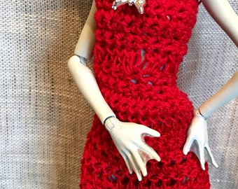 "Monster Ever after High - dress crochet ""Cherry love!"""