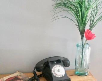 Telephone, Black Table Telephone, Telecommunications, Vintage Dial, Black Bakelite, Rotay Telephone