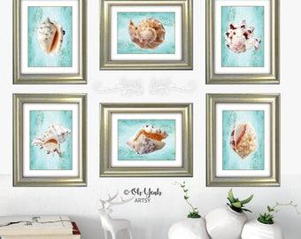 Beachy Gallery Wall Art Prints Set of 6