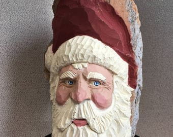 Santa in cottonwood bark