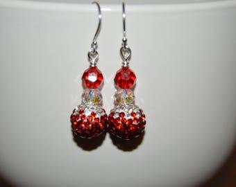 Swarovski Pave Beaded Earrings